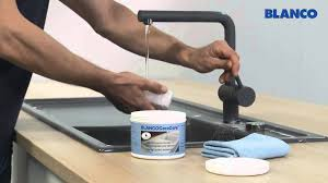 how to clean a blanco composite granite sink how to clean and care for a blanco ceramic sink youtube