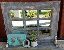 Shabby Chic Mirrors For Sale by Sale Rustic Horizontal Farmhouse Window Mirror Window Pane
