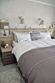 39 best headboards images on pinterest headboard ideas bedroom headboard wood plank wall with top lip that extends beyond night stands