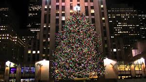rockefeller center christmas tree lit up nyc 12 01 2011 youtube