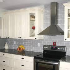 kitchen backsplash ideas with white cabinets houzz grey glass tile backsplash houzz