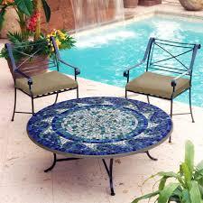 Mosaic Top Patio Table Mosaic Outdoor Coffee Table Outdoorlivingdecor Regarding Brilliant