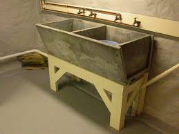 diy utility sink cabinet bathroom design awesome slop sink with tile flooring and wooden