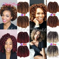 Curly Braiding Hair Extensions by 2017 8 U0027 U0027 Jumpy Wand Curls Crochet Braiding Hair 22 Roots Janet