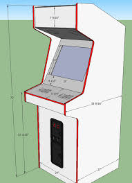 arcade cabinet plans pdf arcade cabinet plans hjc 22 hi graceful illustration sketchup plan