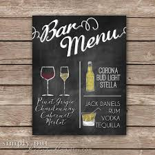 decor chalkboard bar menu personalized 2599492 weddbook