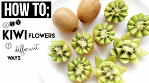 flowers fruit how to kiwi fruit flowers 2 different ways diy reupload in