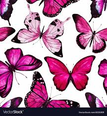 watercolor butterfly pattern royalty free vector image