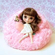 Pink Fur Chair Last One Blythe Bean Bag Faux Fur Soft Pink Pink Bean Bag
