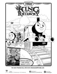 thomas u0026 friends king railway movie printable coloring
