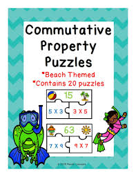 commutative property of multiplication puzzles 3 oa 5 by