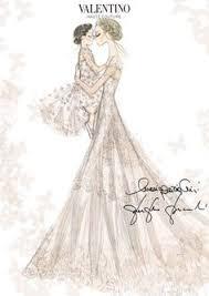 former gucci designer frida giannini wears valentino wedding dress