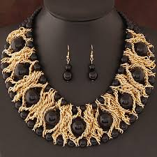 beads jewelry necklace images Kymyad boutique jewelry sets for women gold color african beads jpg