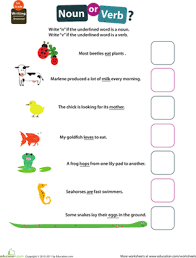 Verb Worksheets Get Into Grammar Noun Or Verb Worksheet Education Com