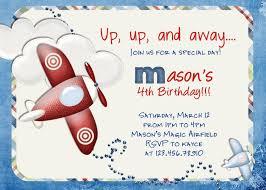 airplane birthday invitations cloveranddot com