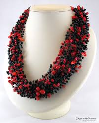 handmade necklace with beads images Necklace beads boho style knitting beaded gift crochet jewelry eco jpg