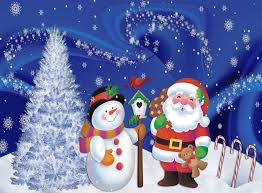 download wallpaper santa claus snowman christmas tree