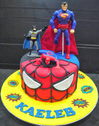 cupcake divinity superman batman u0026 spiderman cake