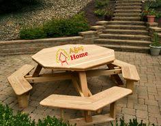 Diy Wood Picnic Tables by Picnic Table Plans Octagon Picnic Table Free And Easy Diy