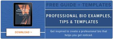 6 of the best professional bio examples we u0027ve ever seen templates