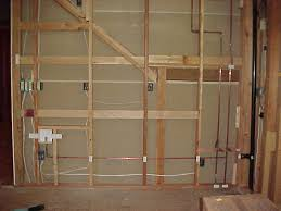 basement remodel project wiring