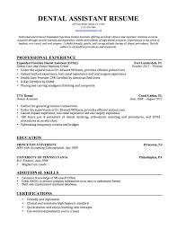 Dentist Resume Examples by Dental Assistant Resume Templates Free Resume Example And