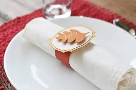 thanksgiving napkin ring place cards with cricut explore air 2