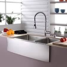farm apron sinks kitchens farmhouse sinks you ll love
