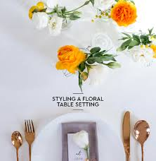 styling a floral table setting u2022 foreign rooftops