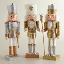 glittered traditional nutcrackers set of 3 world market