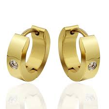 mens gold earrings fashion jewelry hoop earrings for women and girl gold blue