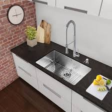 30 Kitchen Sinks by Vigo 30 Inch Undermount 18 Gauge Stainless Steel Kitchen Sink