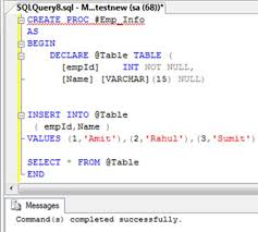 Sql Declare Temp Table Temporary Stored Procedures In Sql Server 2008