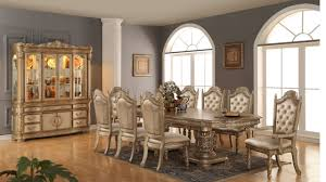 Gold Dining Room Bethany Dining Table In Gold Tone W Optional Items