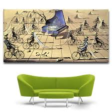 Canvas Home Decor Aliexpress Com Buy 2017 Abstract Art Surrealism Alvador Dali Oil