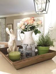easter decorations for the home rabbit and monogram fresh flowers greens and whites and