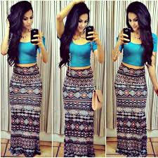shareig maxi skirt crop top type of night ootn top forever
