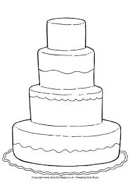 wedding cake outline wedding cake colouring page