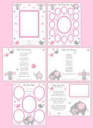 baby girl memory book baby girl memory book year scrapbook page layout print