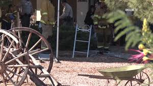 apple valley man falls into septic sink hole onscene tv los