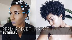 curling rods for short natural hair perm rod roller set on short natural hair youtube