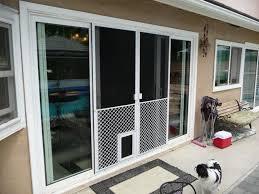 sliding glass door with doggie door dog door sliding door insert designs rooms decor and ideas
