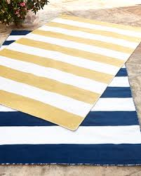 Yellow And White Outdoor Rug Rugby Stripe Indoor Outdoor Rug