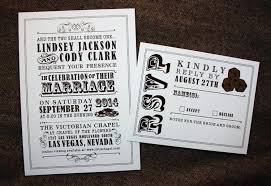 vegas wedding invitations las vegas wedding invitation ideas brown casino vintage