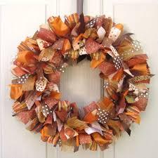 fall ribbon fall wreath ribbon door wreath for fall decor fabric wreath