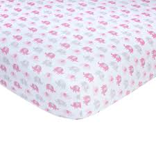 Carter S Convertible Crib by Carter U0027s Pink And Grey Elephant Print Cotton Crib Sheet Toys