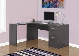 bureau en coin nouveauté i 7139 bureau en coin gris foncé et verre trempé