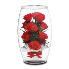 rose in glass miracle roses everlasting bouquet the danbury mint