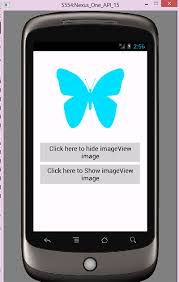 imageview android hide show imageview on button click android programmatically