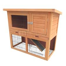Large Rabbit Hutch 3ft Outdoor Rabbit Hutch And Run With 2 Two Tier Wooden Guinea Pig